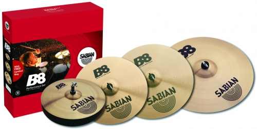 B8 Performance set (14 Hats, 16 Thin Crash, 20 Ride, 18 Thin Crash), 45003G