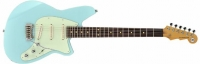 REVEREND Six Gun Guitar III Chronic Blue, электрогитара,  массив корины, кленовый гриф с палисандровой накладкой